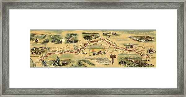 Pony Express Route April 1860 - October Framed Print