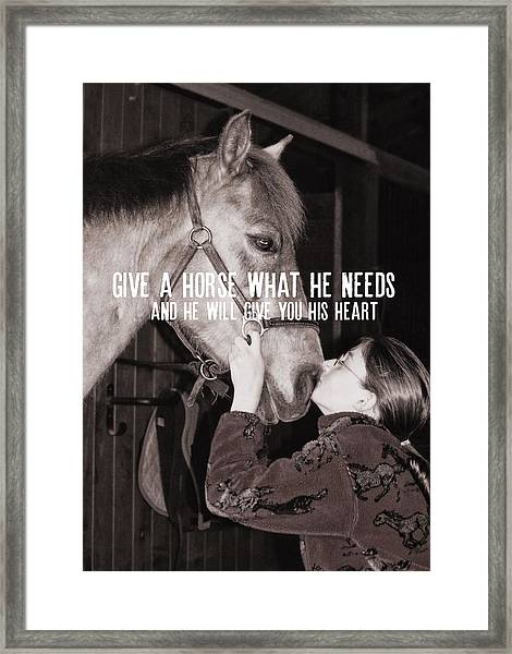 Pony Love Quote Framed Print