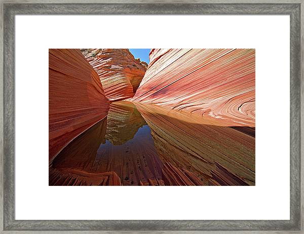 Pool At The Wave Framed Print