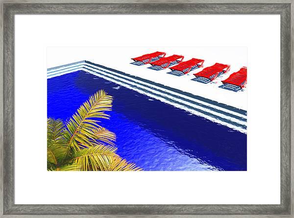 Pool Deck Framed Print