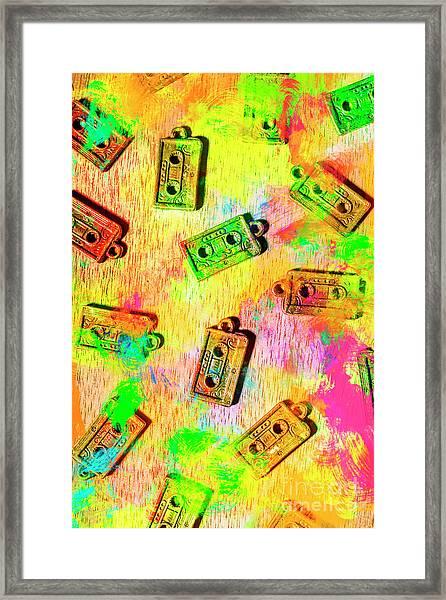 Pop Art Mix Tapes Framed Print