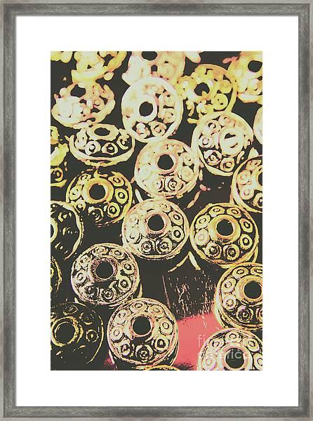 Pop Art Space Invaders Framed Print