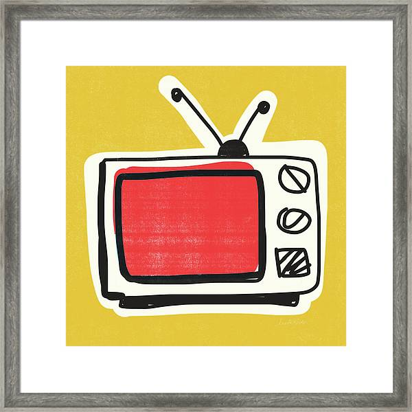 Pop Art Tv- Art By Linda Woods Framed Print