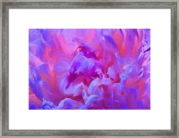 Pop Pink Peony Framed Print