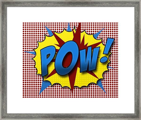 Pop Pow Framed Print