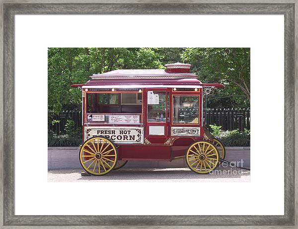 Popcorn Wagon Framed Print