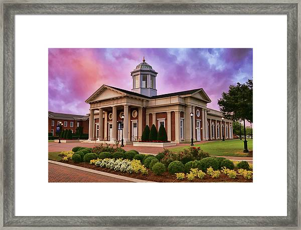 Pope Chapel Under Colorful Sky Framed Print