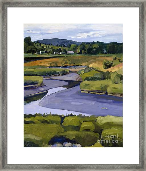 Pope John II Park On Neponset River Framed Print
