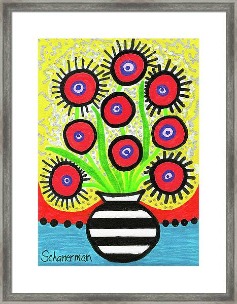 Poppin' Red Poppies Framed Print