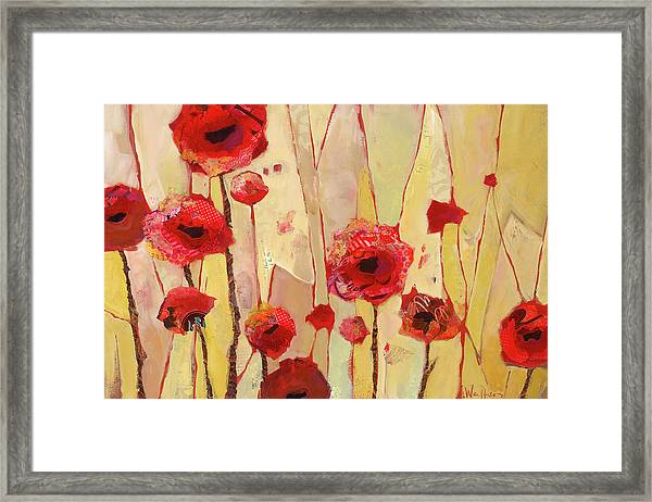 Framed Print featuring the painting Poppy Crush by Shelli Walters