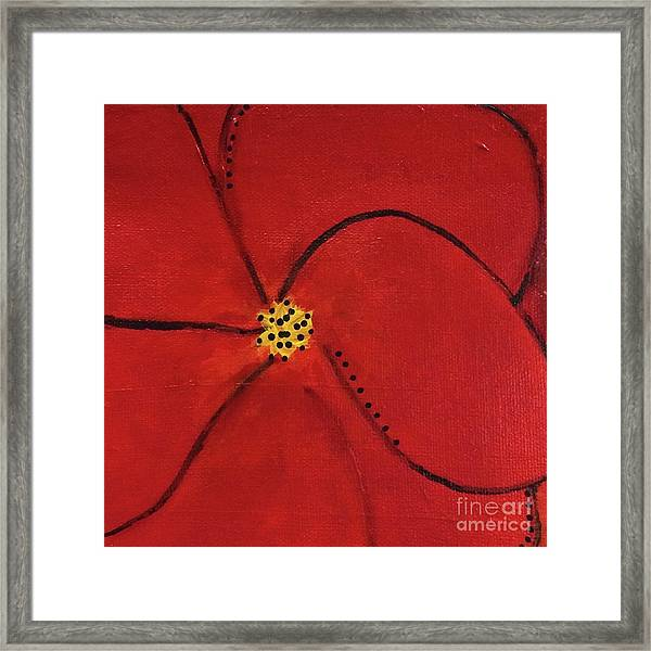 Poppy Dots Framed Print