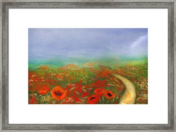 Poppy Field Impressions Framed Print