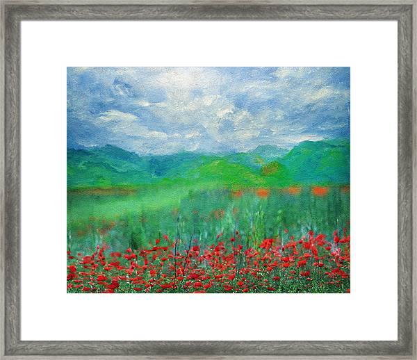 Poppy Meadows Framed Print