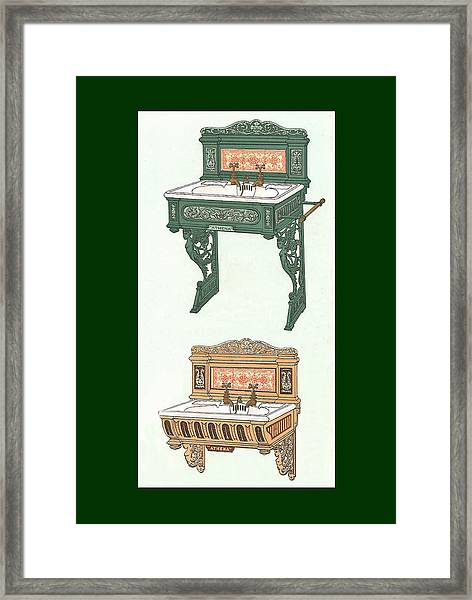 Framed Print featuring the mixed media Porcelain Hand Basin One by Eric Kempson