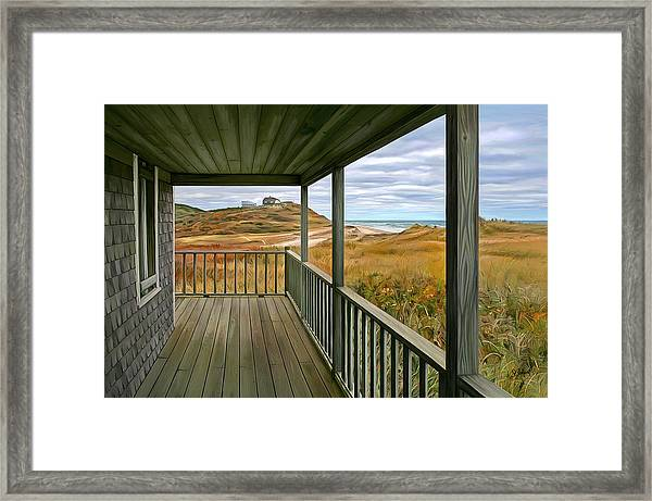 Porch View Framed Print