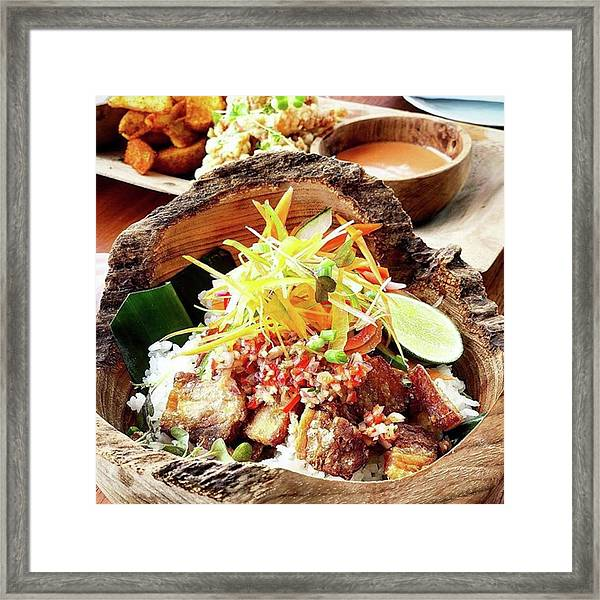Pork Belly Rice Pot Framed Print by Arya Swadharma