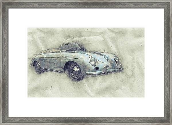 Porsche 356 - Luxury Sports Car 1 - 1948 - Automotive Art - Car Posters Framed Print