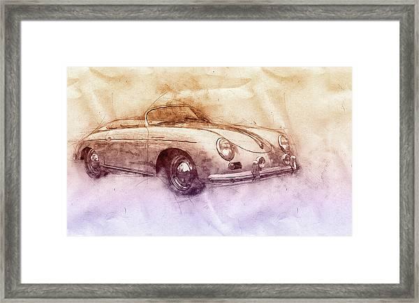 Porsche 356 - Luxury Sports Car 2 - 1948 - Automotive Art - Car Posters Framed Print
