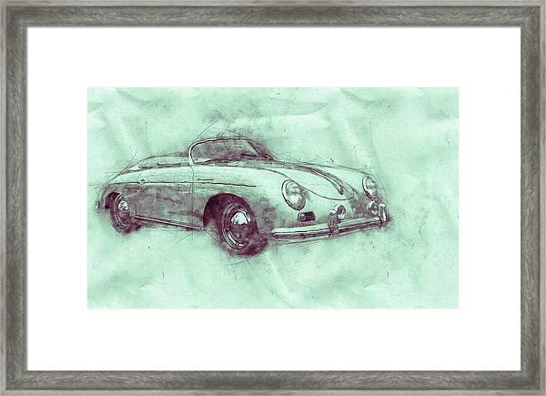 Porsche 356 - Luxury Sports Car 3 - 1948 - Automotive Art - Car Posters Framed Print