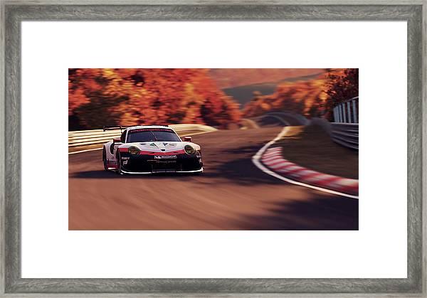 Porsche 911 Rsr, Nordschleife - 41 Framed Print