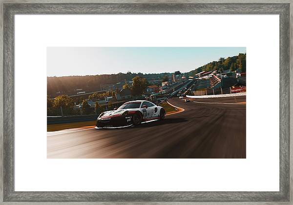 Porsche 911 Rsr, Spa-francorchamps - 33 Framed Print