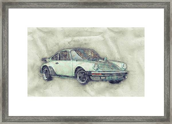 Porsche 911 - Sports Car 1 - Roadster - Automotive Art - Car Posters Framed Print