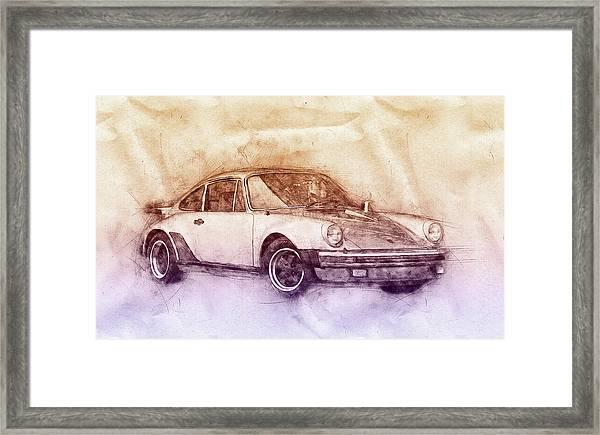 Porsche 911 - Sports Car 2 - Roadster - Automotive Art - Car Posters Framed Print