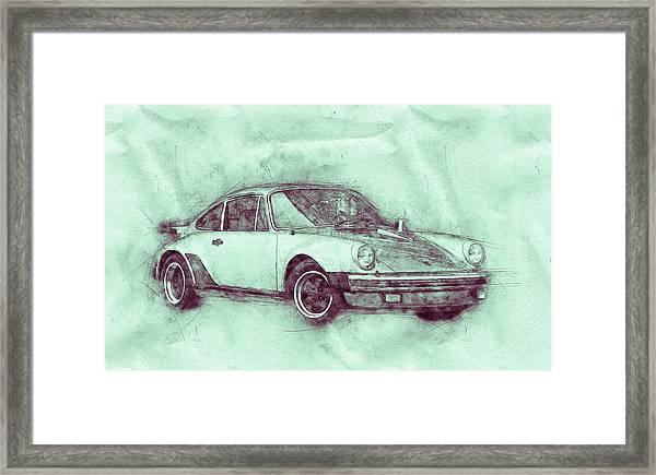 Porsche 911 - Sports Car 3 - Roadster - Automotive Art - Car Posters Framed Print