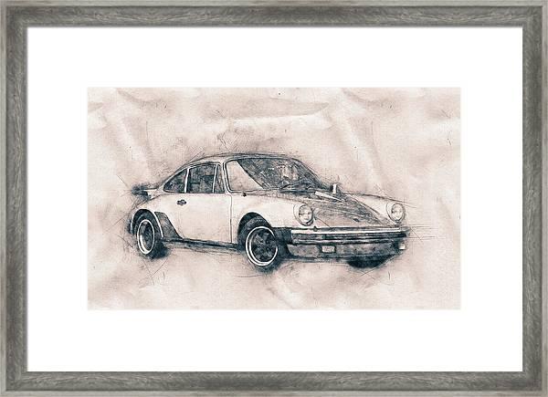 Porsche 911 - Sports Car - Roadster - Automotive Art - Car Posters Framed Print