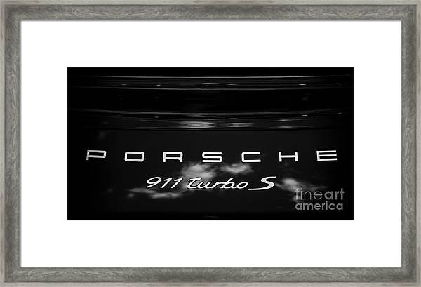 Porsche 911 Turbo S Framed Print