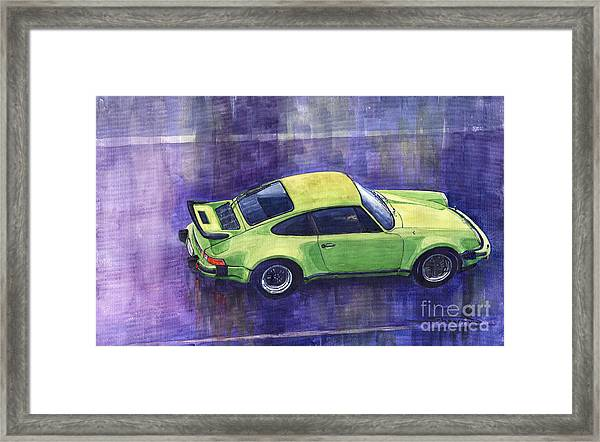 Porsche 911 Turbo Green Framed Print