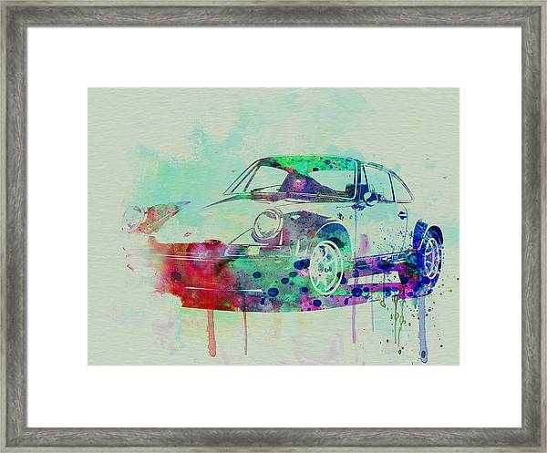 Porsche 911 Watercolor 2 Framed Print