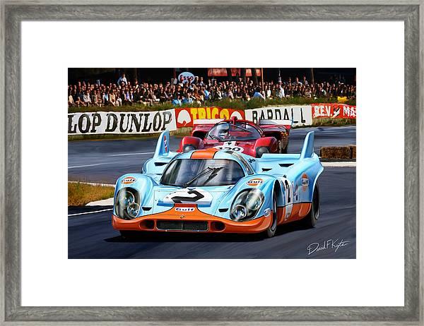Porsche 917 At Le Mans Framed Print by David Kyte