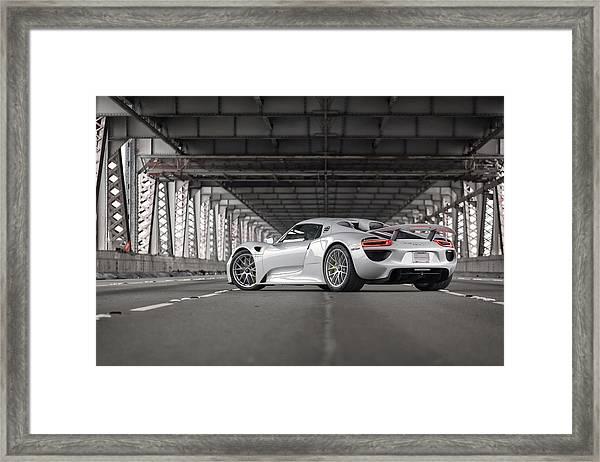 Porsche 918 Spyder Framed Print