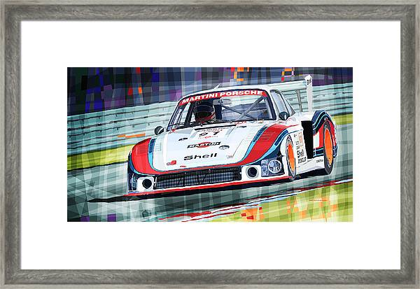 Porsche 935 Coupe Moby Dick Martini Racing Team Framed Print