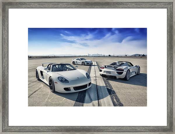 #porsche #carreragt,  #918spyder,  #cayman #gt4 Framed Print