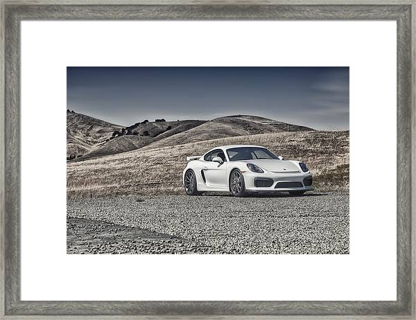 Porsche Cayman Gt4 In The Wild Framed Print