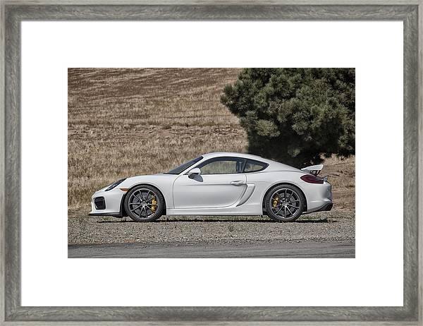 Porsche Cayman Gt4 Side Profile Framed Print