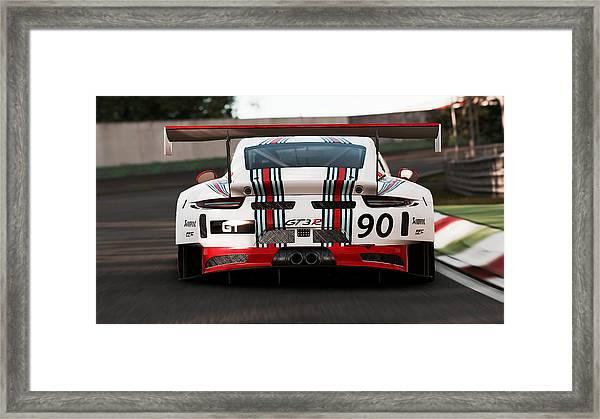 Porsche Gt3, Martini Racing, Monza - 03 Framed Print