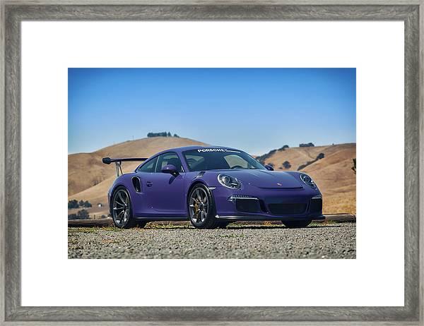 #porsche #gt3rs #ultraviolet Framed Print