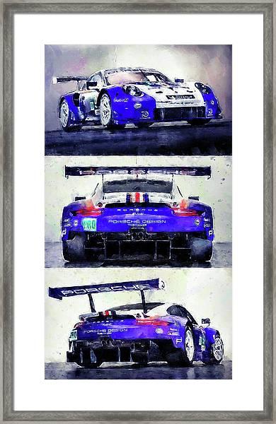 Porsche Rsr Le Mans 2018 - 02 Framed Print