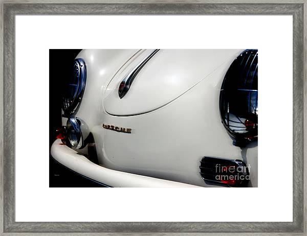 The White Porsche  Framed Print by Steven Digman