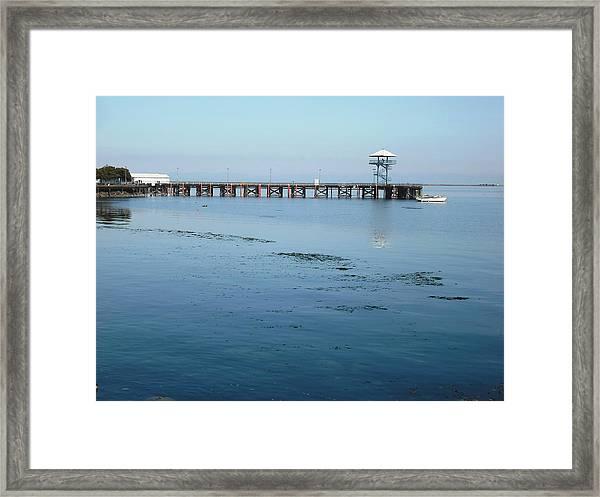 Port Angeles Pier Framed Print