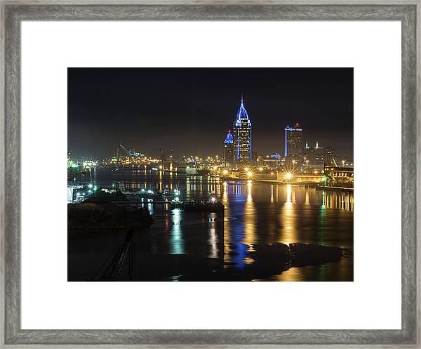 Port City Honors Blue Framed Print