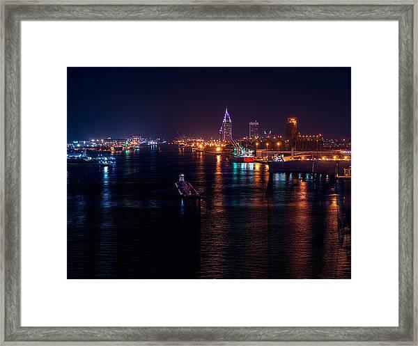 Port City Purple Framed Print