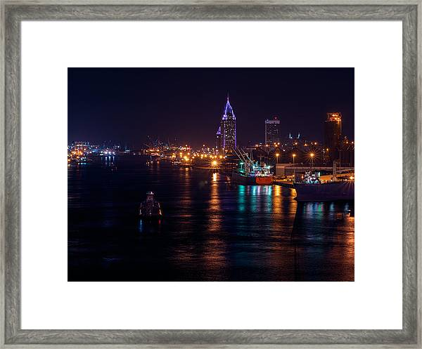 Port City Purple Closer Framed Print
