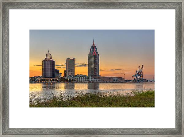 Port City Sunset 2 Framed Print