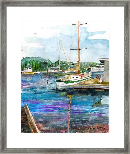 Port Mcneil Bc Framed Print