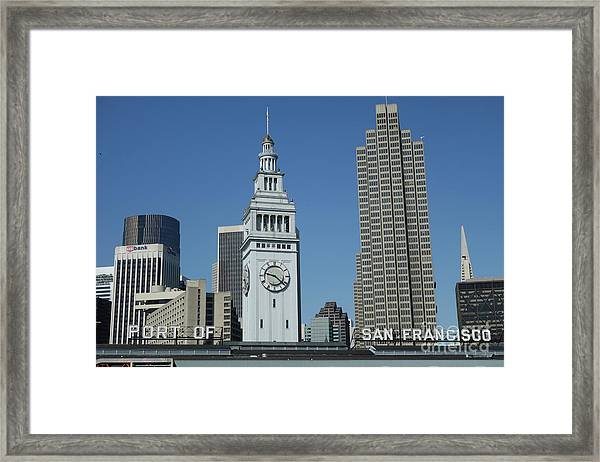 Port Of San Francisco Framed Print