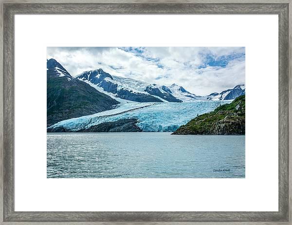 Portage Glacier Framed Print